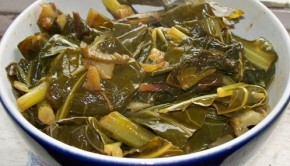Collard Greens and Peppers