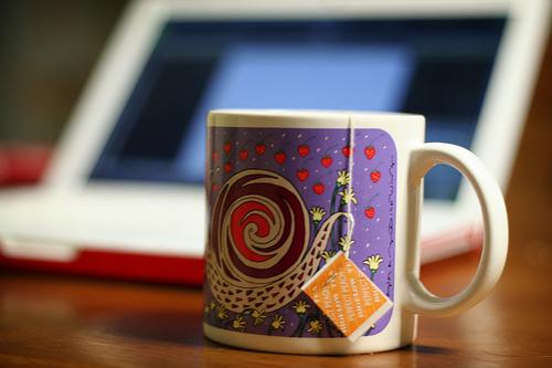 laptop tea