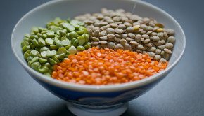Brown, Green and Red Lentils