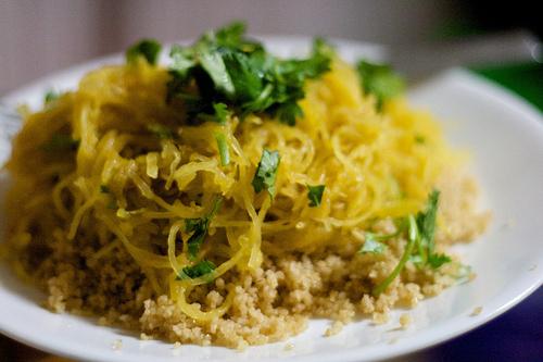 Morrocan-spiced spaghetti squash