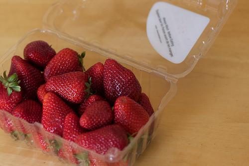 Plastic and Strawberries