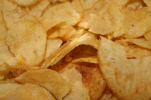 potato chips are a high salt snack