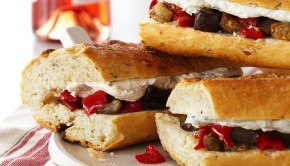 Roasted Vegetable and Goat Cheese Sandwiches Pg.106