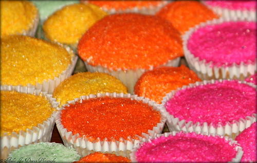 junk food rainbow cupcakes