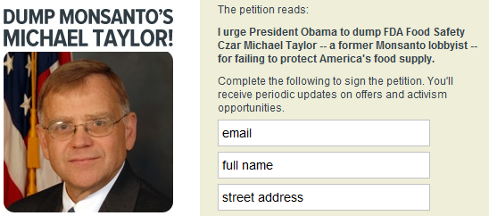 monsanto employee fda petition