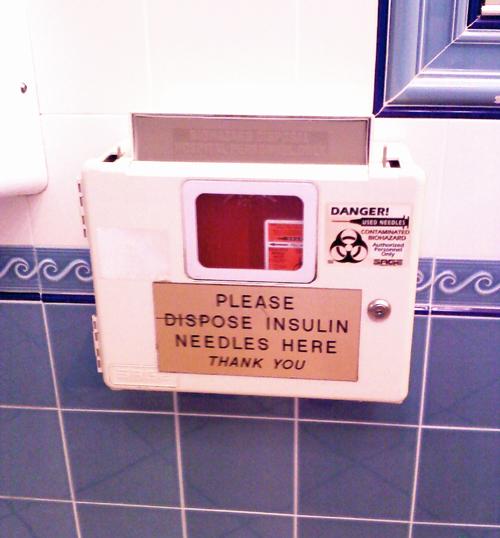 insulin needle disposal bin