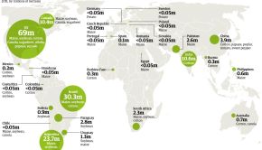 genetically modified crops map