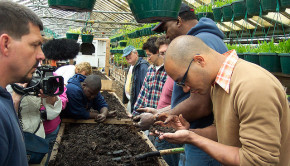 Vermiculture lesson, at Growing Power