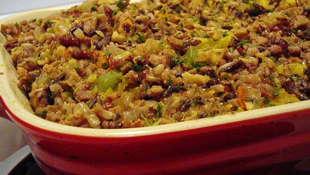 Plant-Based Holiday Main Course: Vegan Cranberry-Wild Rice Casserole