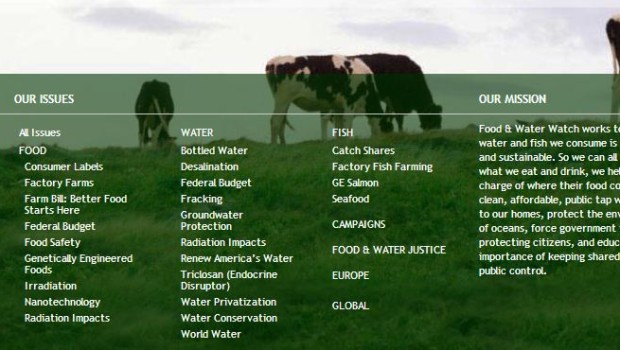 Food And Water Watch Web Site