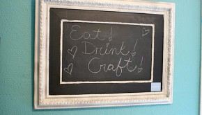 reduce food waste with a chalkboard