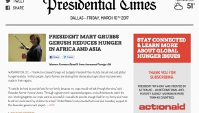 How President Gerush Addressed The Food Crisis