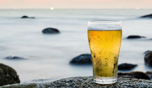Glass of Beer by the Sea