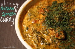 spinach and chicken curry