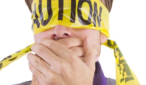 Blindfolded Man, Mouth Covered