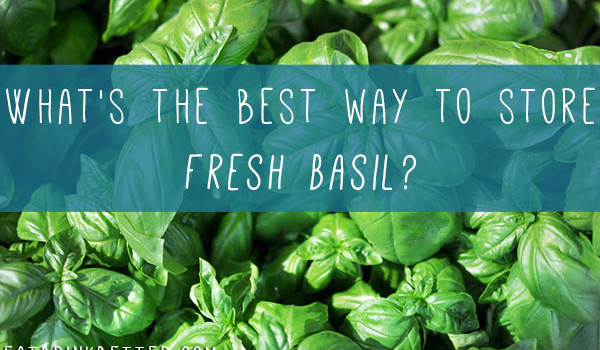 the best way to store fresh basil