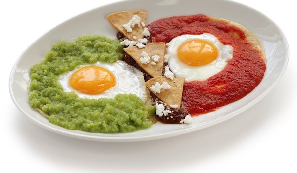 Eggs with Green Chile Sauce