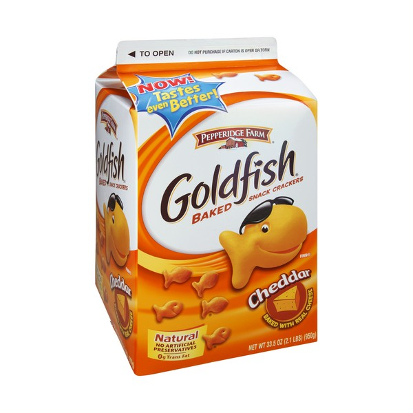 Pepperidge farm goldfish sued over natural label eat for Gold fish snack