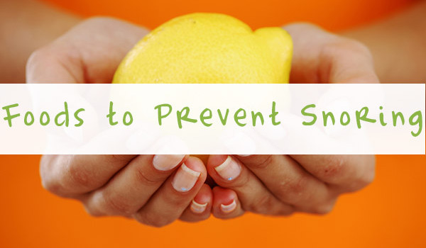 foods to prevent snoring