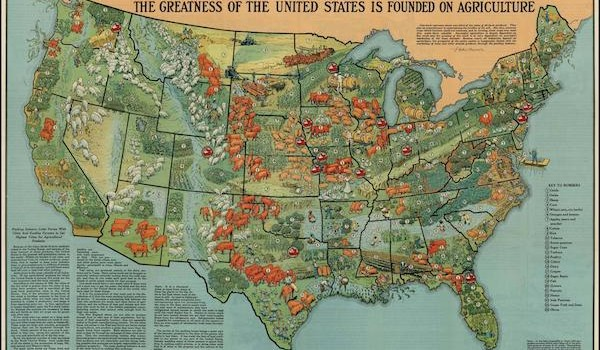 1922 US Agriculture Map