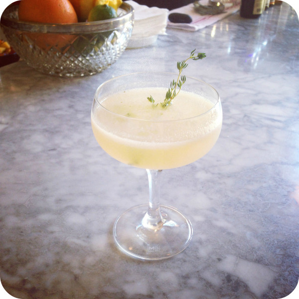 This summer cocktail recipe from Hopscotch Restaurant & Bar in Oakland, CA is a crowd pleaser and makes great use of what's fresh in season at the farmer's market right now.