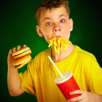 Kid Eating Fast Food