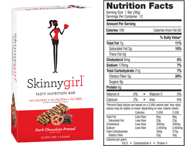 Skinnygirl Snack Bars: Healthy or Healthwashing?