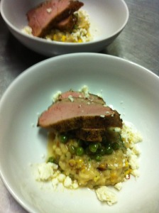 Spice Rubbed Pork with Sweet Corn Risotto_Will Fincher (1)
