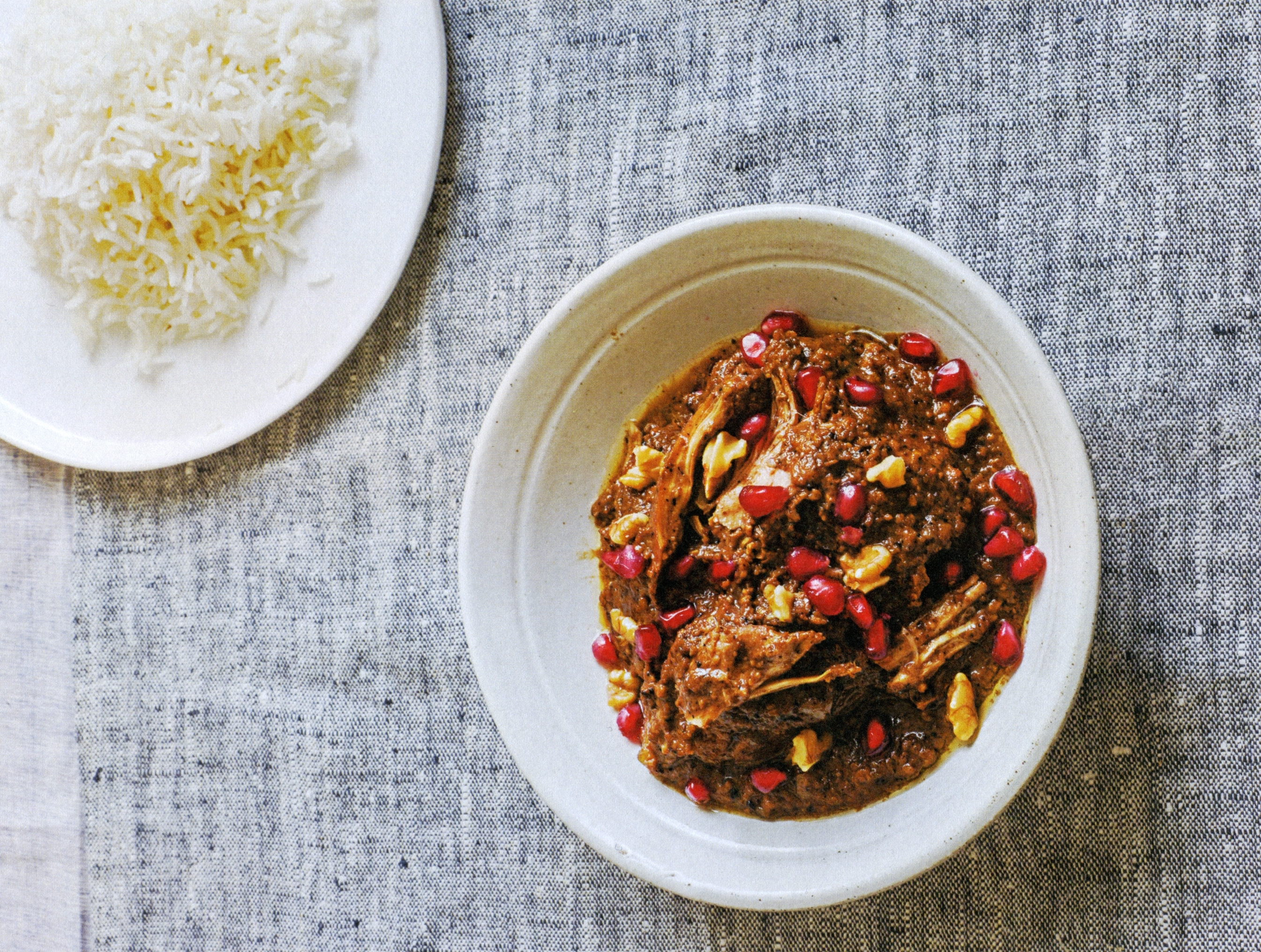 Chicken, Walnut & Pomegranate Stew Recipe