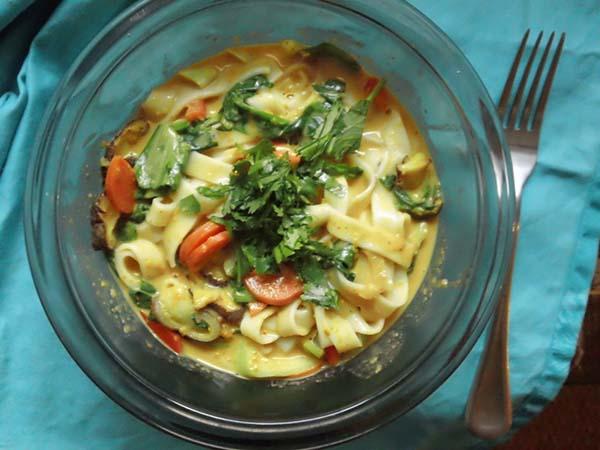 Healthier Noodle Soup: Curry Noodle Soup