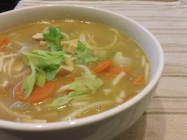 Healthier Noodle Recipe: No-Chicken Noodle Soup