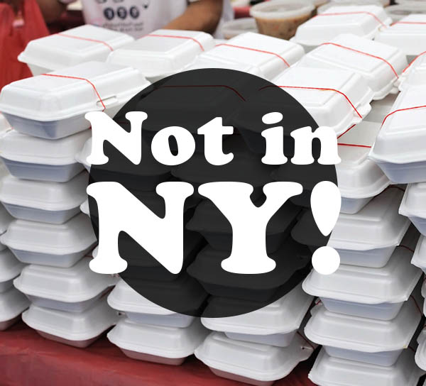 New York Bans Styrofoam Take Out Containers