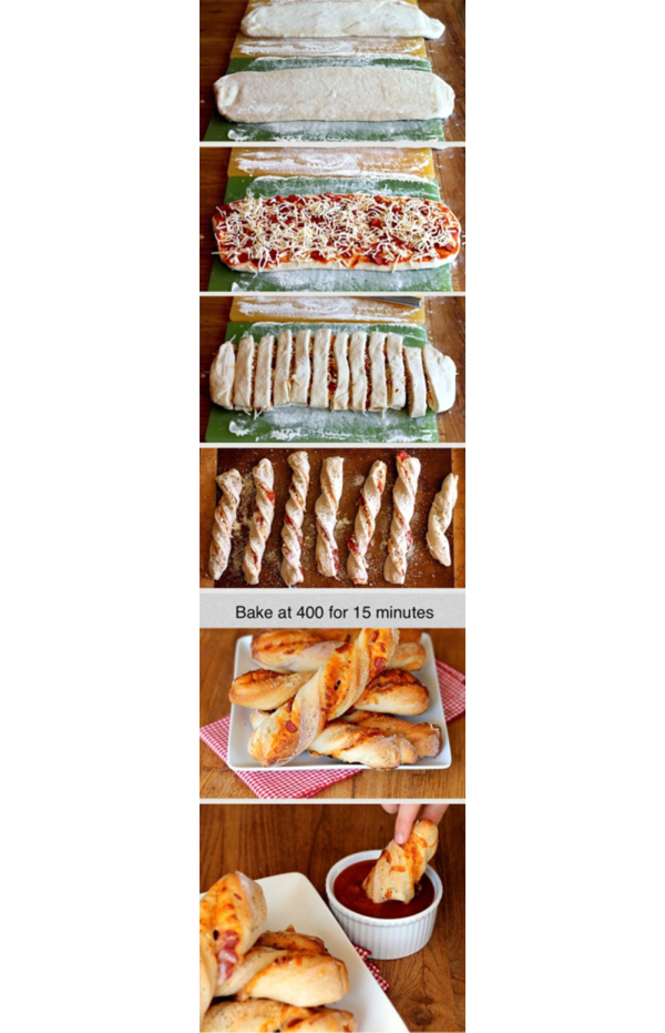 4 Awesome Food Hacks: Dippable Pizza Sticks