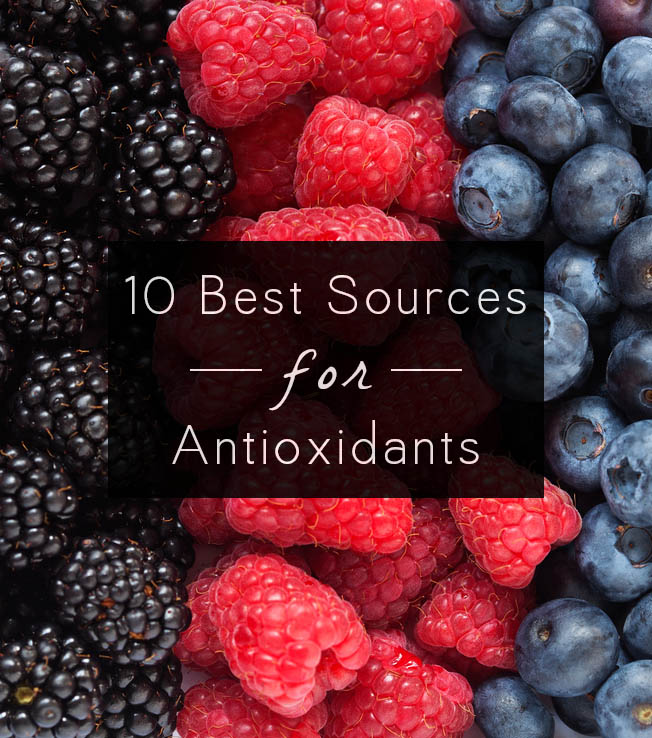 10 Best Antioxidant Foods - Antioxidants help slow down the signs of aging and protect our bodies from disease. Check out this list of the best antioxidant foods, plus recipe ideas to get you cooking.