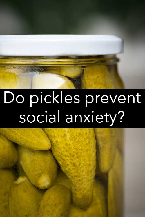 Does eating pickles help with anxiety?