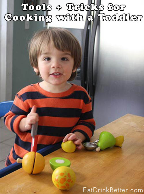 Teaching kids to cook encourages them to eat healthier, and even young kids can get in on the kitchen action. Here are some of the toddler-friendly kitchen activities that I use to get my son interested in cooking and eating healthy food.
