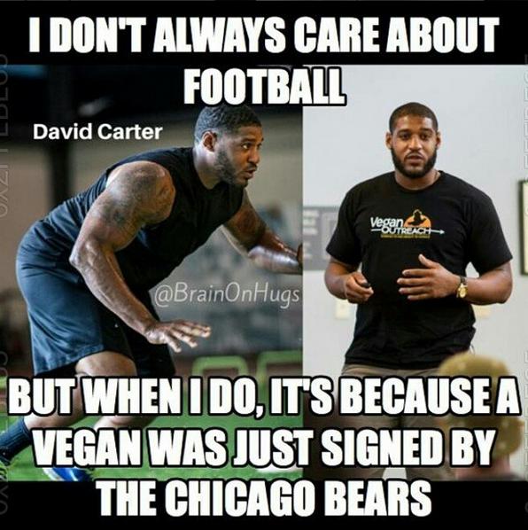 Meet David Carter, The 300 Pound Vegan Football Player