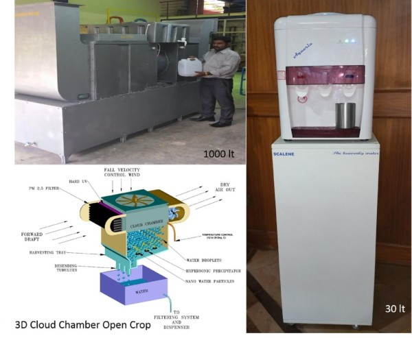 New technology from Bangalore promises clean drinking water by drawing moisture from the air.  Rain Tunnel Technology, invented by Dr Rajah Vijay Kumar, Chief Scientific Officer at the De Scalene Research Organization, will soon be available for both commercial and household use.