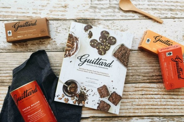 Salted Chocolate Shortbread Recipe from the new Guittard Chocolate Cookbook: Decadent Recipes from San Francisco's Premium Bean-to-Bar Chocolate Company.