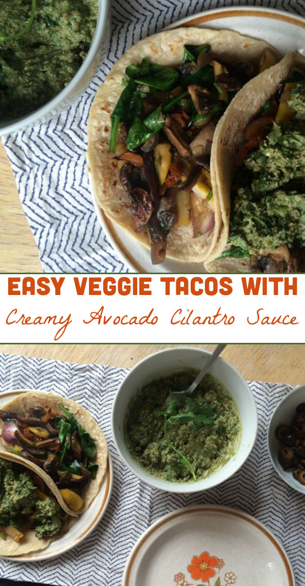 Need a quick, weeknight supper? Easy veggie tacos to the rescue!