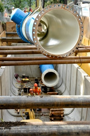 LucidEnergy, a Portland, Oregon-based startup that launched in 2007, has devised a system to get hydroelectric power from city water supply pipes.