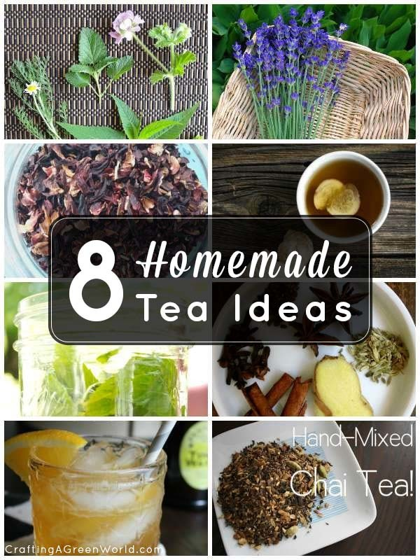 Make your own homemade tea blends with these 8 recipes!