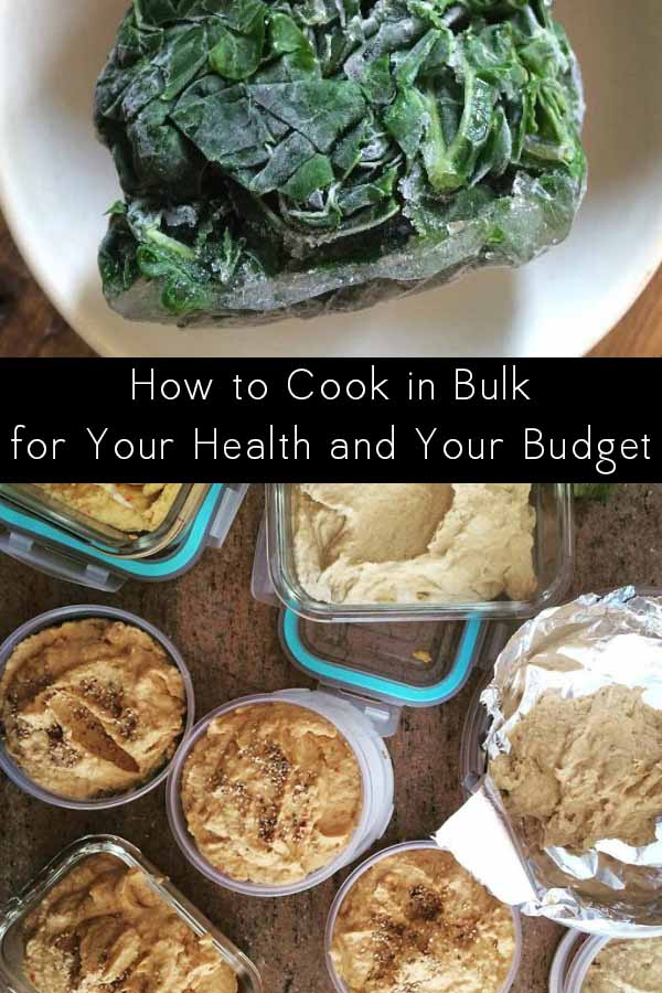 These are my favorite ways to cook big batches of food to save money and eat healthier.