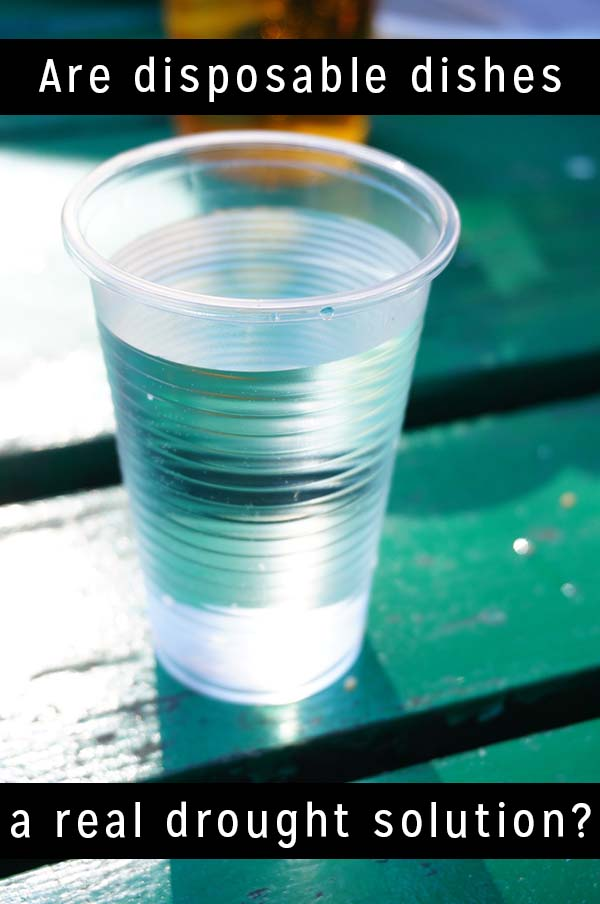 The city of Fort Bragg, California has had an interesting response to the severe drought they're experiencing: they've ordered restaurants to switch to disposable dishware.