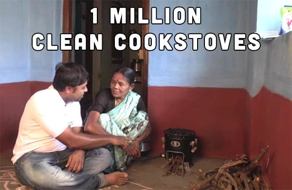 What's the impact of one million clean cookstoves? Reduced emissions, healthier people, and more jobs.