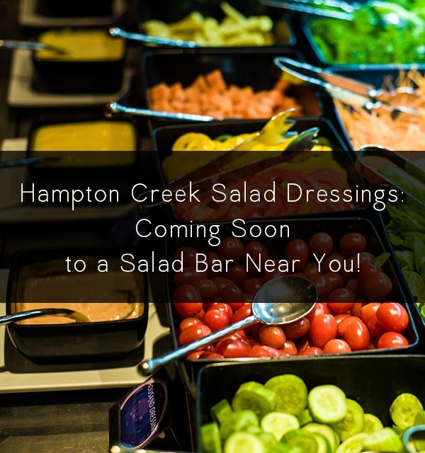 Hampton Creek salad dressings and baking mixes edged out products from a non-vegan company at food service giant Compass Group.