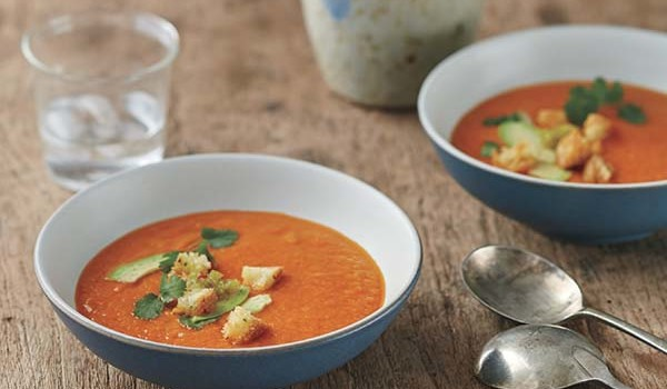Dipping your spoon into this bell pepper soup is like dipping into a bowl of sunshine.