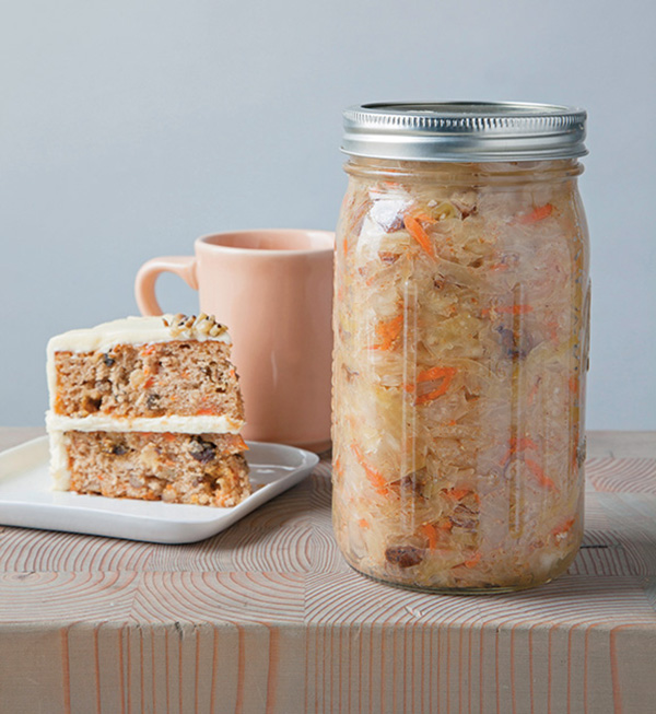 Get the Carrot Cake Kraut recipe from Amanda Feifer's new book: Ferment Your Vegetables!