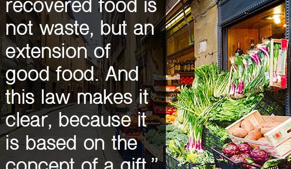 A new Italy food waste law aims to double the amount of food it saves from landfills.