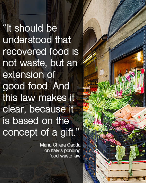 A new Italy food waste law aims to double the amount of #foodwaste it rescues each year.